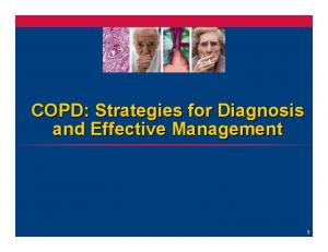 COPD: Strategies for Diagnosis and Effective Management
