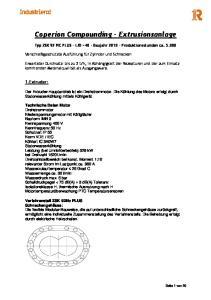 Coperion Compounding Extrusionsanlage