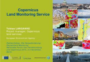 Copernicus Land Monitoring Service Title
