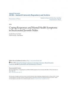 Coping Responses and Mental Health Symptoms in Incarcerated Juvenile Males