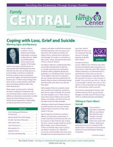 Coping with Loss, Grief and Suicide Warning Signs and Recovery