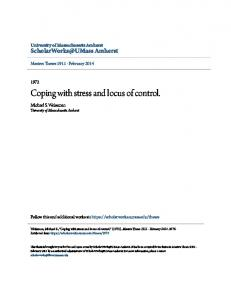 Coping with stress and locus of control