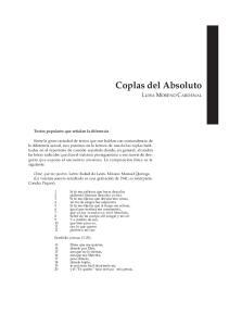 Coplas del Absoluto LUISA MORENO CARDENAL