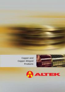 Copper and Copper Alloyed Products
