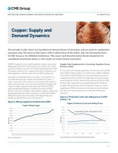 Copper: Supply and Demand Dynamics