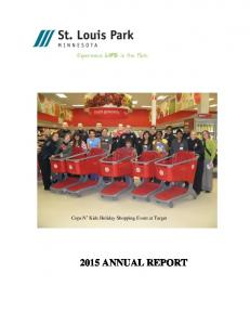 Cops N Kids Holiday Shopping Event at Target 2015 ANNUAL REPORT