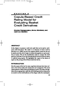Copula-Based Credit Rating Model for Evaluating Basket Credit Derivatives