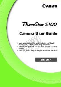 COPY. Camera User Guide ENGLISH