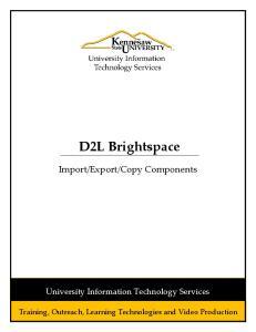 Copy Components. University Information Technology Services