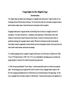 Copyright in the Digital Age