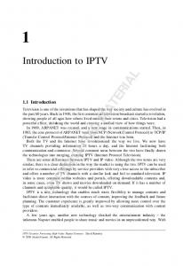 COPYRIGHTED MATERIAL. Introduction to IPTV. 1.1 Introduction