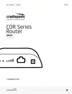 COR Series Router IBR350