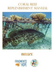 Coral Reef Replenishment Manual