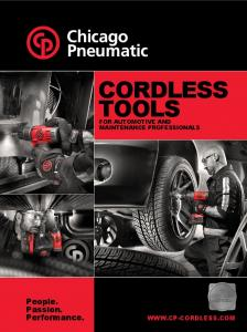 CORDLESS TOOLS. People. Passion. Performance.  FOR AUTOMOTIVE AND MAINTENANCE PROFESSIONALS