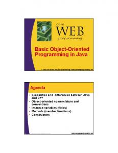 core Basic Object-Oriented Programming in Java