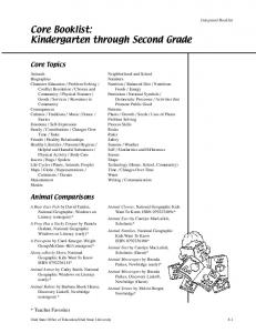 Core Booklist: Kindergarten through Second Grade