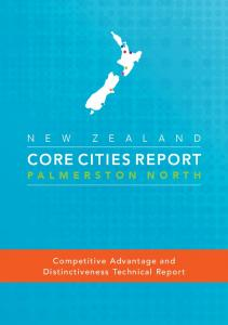 CORE CITIES REPORT. Palmerston North. Competitive Advantage and Distinctiveness Technical Report
