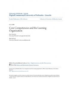 Core Competencies and the Learning Organization