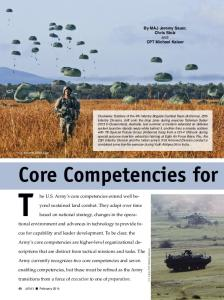 Core Competencies for