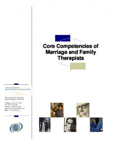 Core Competencies of Marriage and Family Therapists