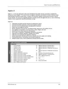 Core Courses and Electives