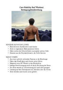 Core Stability Surf Workout Bewegungsbeschreibung