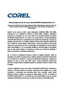 Corel presenta hoy el nuevo CorelDRAW Graphics Suite X4