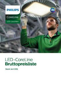 CoreLine. LED-Leuchten. LED-CoreLine Bruttopreisliste