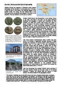Corinth, Coins and the Cult of Aphrodite