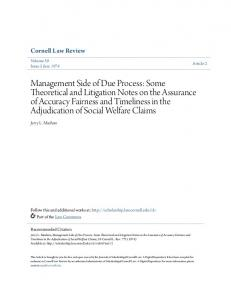 Cornell Law Review. Jerry L. Mashaw. Volume 59 Issue 5 June Article 2