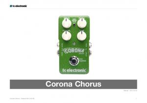 Corona Chorus. Manual Corona Chorus Manual ( ) 1