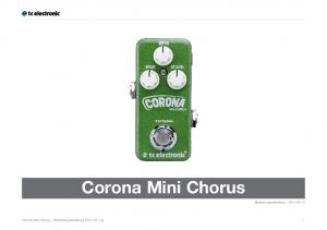 Corona Mini Chorus. Bedienungsanleitung Corona Mini Chorus Bedienungsanleitung ( ) 1