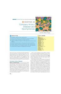 Coronary Artery Disease and Dysrhythmias