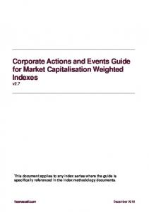 Corporate Actions and Events Guide for Market Capitalisation Weighted Indexes v2.7