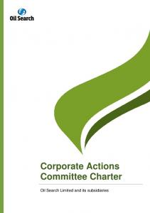 Corporate Actions Committee Charter
