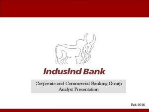 Corporate and Commercial Banking Group Analyst Presentation