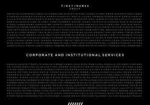 CORPORATE AND INSTITUTIONAL SERVICES