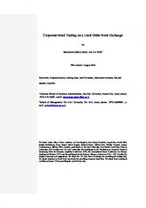 Corporate Bond Trading on a Limit Order Book Exchange
