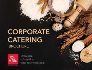 CORPORATE CATERING BROCHURE. enville.com