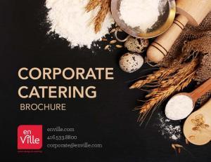 CORPORATE CATERING BROCHURE. enville.com