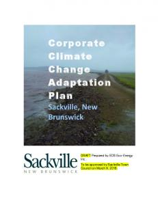 Corporate Climate Change Adaptation Plan
