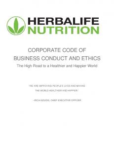 CORPORATE CODE OF BUSINESS CONDUCT AND ETHICS