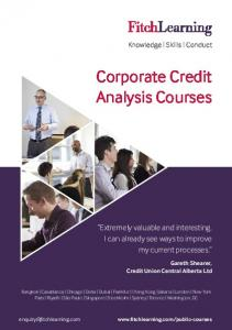 Corporate Credit Analysis Courses