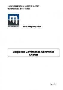 Corporate Governance Committee Charter