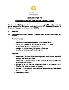 Corporate Governance & Compensation Committee Charter