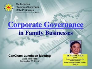 Corporate Governance in Family Businesses