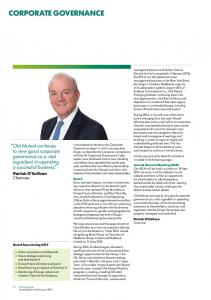 CORPORATE GOVERNANCE. Old Mutual continues to view good corporate governance as a vital ingredient in operating a successful business