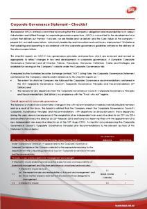 Corporate Governance Statement Checklist