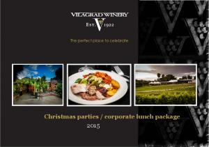 corporate lunch package 2015
