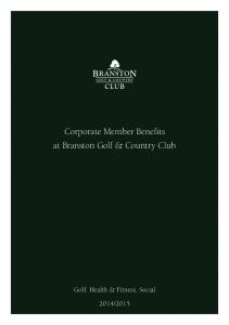 Corporate Member Benefits at Branston Golf & Country Club